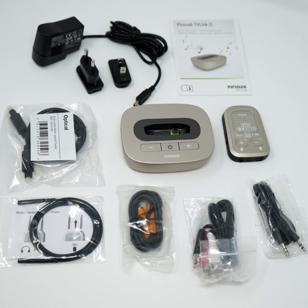 image showing all components of Compilot 2 and TV Link 2 Bundle on white background