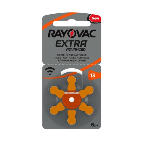 Rayovac Extra Hearing Aid Accessories 6pk Size 13