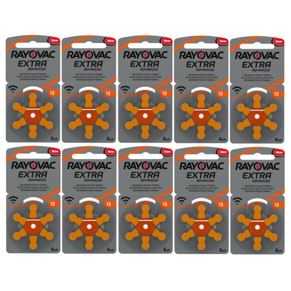 Rayovac Hearing Aid Batteries Box of 10 x 6pk