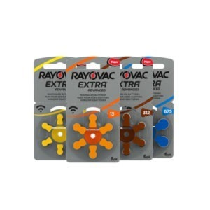 Rayovac Size 10 Hearing Aid Batteries Zinc Air Extra (pack of 6)