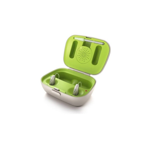 green Phonak marvel charger case