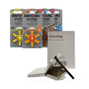SPECIAL OFFER: Box of 60 Rayovac Batteries & 16 Cerustop Wax Guards £20