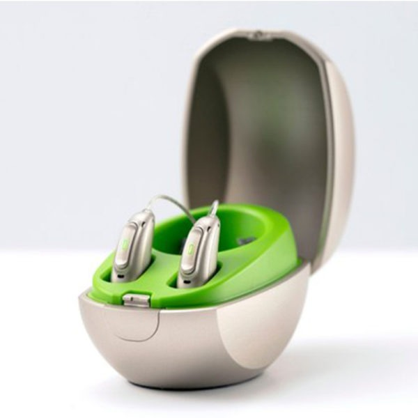 Phonak mini charger against white background