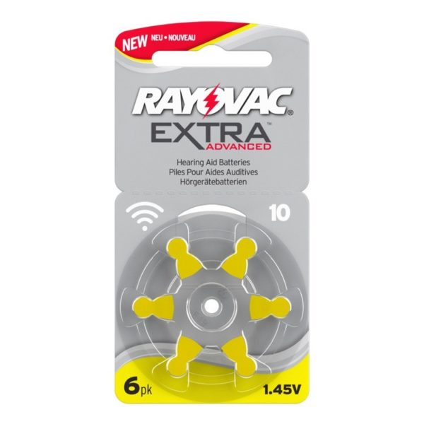 10 Rayovac Zinc Air Extra (card of six cells)