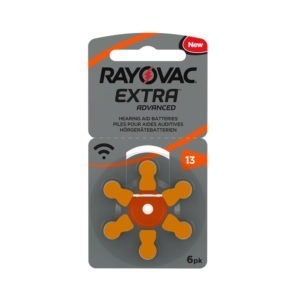 13 Rayovac Zinc Air Extra (Card of six cells)