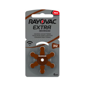Rayovac Size 312 Hearing Aid Batteries Zinc Air Extra (pack of 6)