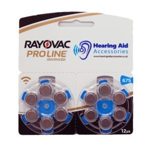 Rayovac ProLine Advanced Hearing Aid Batteries Size 675