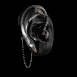 DeafMetal® Safety Penny Black – Hearing Aid Jewellery