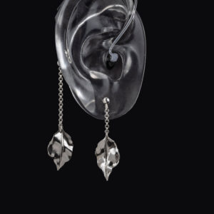 DeafMetal® Silver Buds – Hearing Aid Jewellery