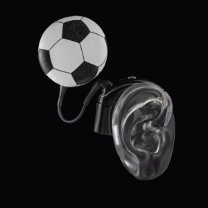 DeafMetal® Football – Cochlear Implant Jewellery