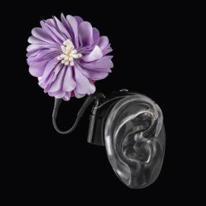 DeafMetal® Lilac Flower – Cochlear Implant Jewellery