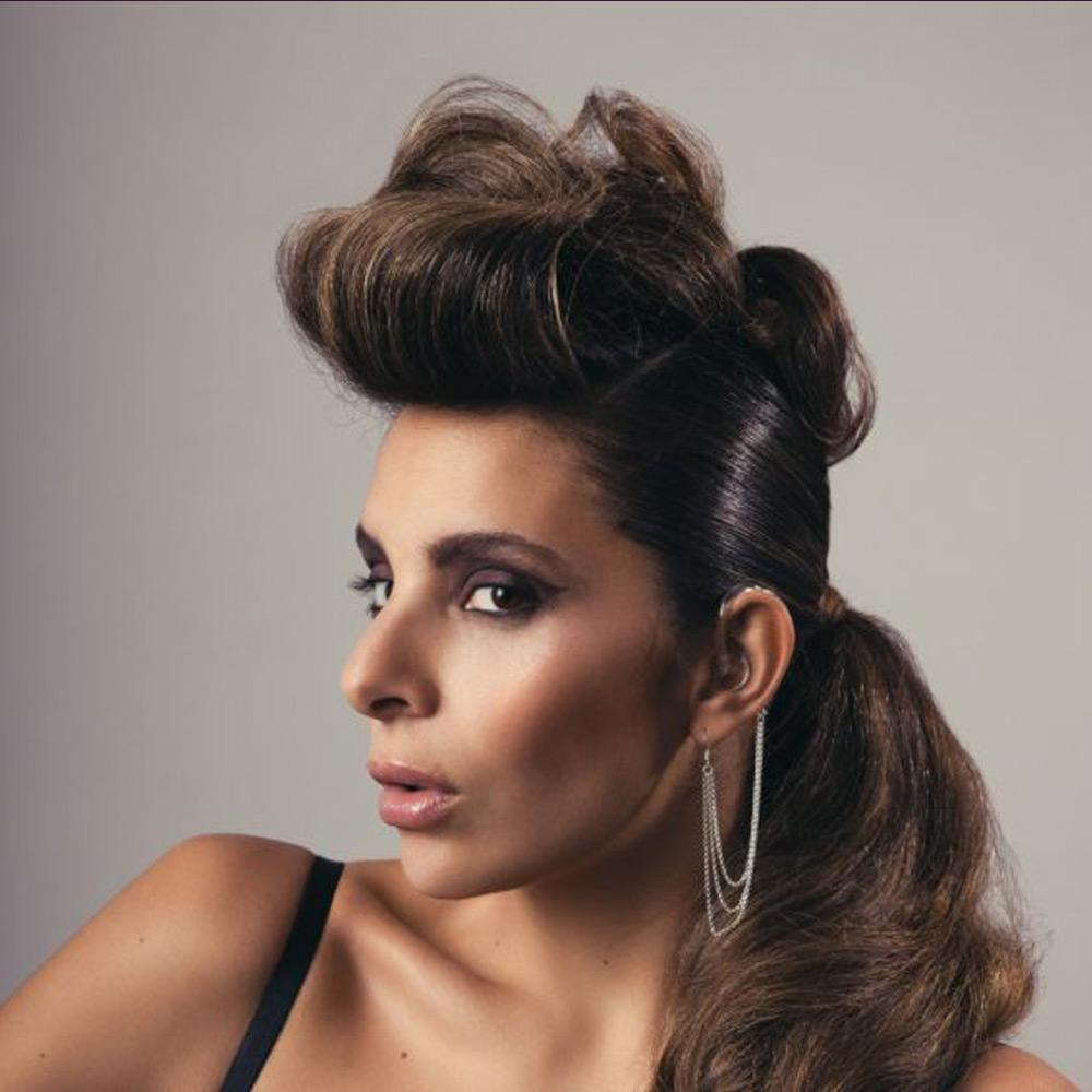 model wearing Luisa Deaf Metal Jewellery
